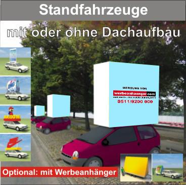 Standfahrzeuge mit Standard - rechteckigen / Individual-Dachaufbau