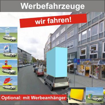 Werbefahrzeuge mit Fahrer (Werbeaktionen)