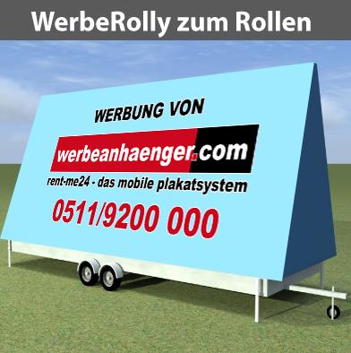 WerbeRolly zum Rollen, ohne StrassenZulass., für City/Äcker