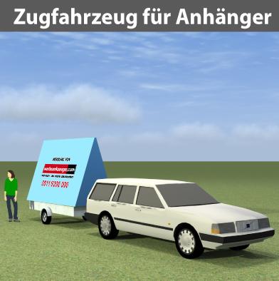 Zugfahrzeug für Werbeanhänger als Standfahrzeug